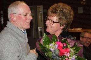 Bestuurswisseling : Brigit Klein Hofmeyer maakt plaats in het bestuur voor haar man Gerard.